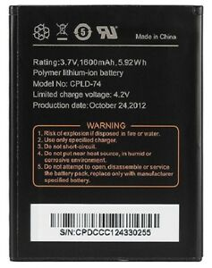 New OEM CPLD-74 Coolpad Quattro 4G 5860 5860E Arise 5560s Avail 3300a Battery