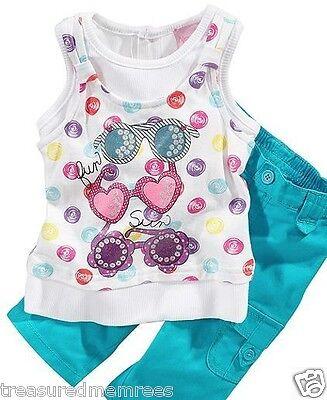 Nannette 2 Piece Sunglasses Shirt & Capri Pants Set ~ New With Tags MSRP - 2 Piece Capri Pant