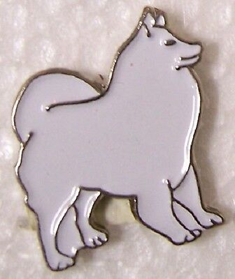 Hat Lapel Pin Scarf Clasp Dog Samoyed NEW