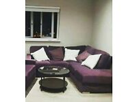 Corner Sofa - Aubergine colour