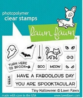 Lawn Fawn Tiny Halloween Stamp Set   NEW
