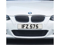 IFZ 575 – Price Includes DVLA Fees – Cherished Personal Private Registration Number Plate