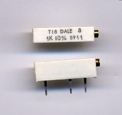 1K ohm 10% Trimmer - Multi-turn - 2 pcs / $1.00