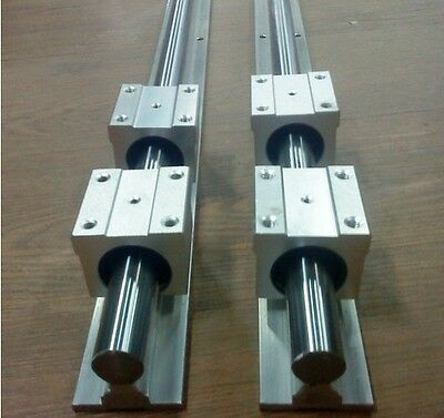 Sbr12-150mm Linear Slide Guide 2 Rail4 Sbr12uu Bearing Block Cnc Set