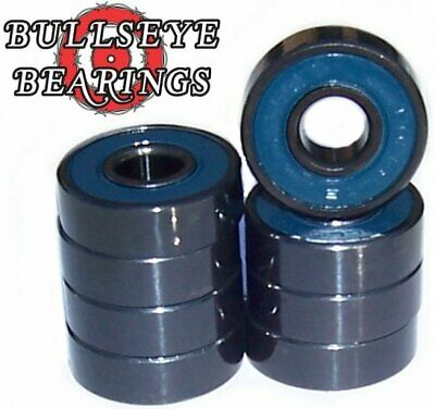 Set of 8 BULLSEYE Abec 7 Skateboard Bearings FREE SHIP