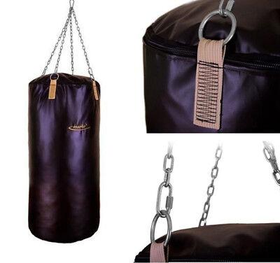 Boxsack MC-W130|45 130cm 45fi leer Trainingssack Boxen Sandsack ungefüllt Kette