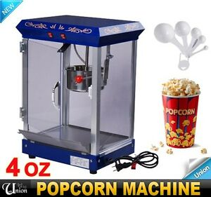 New-4OZ-Blue-Popcorn-Machine-Maker-Popper-Cart-Commercial-Tabletop-Bar-Style