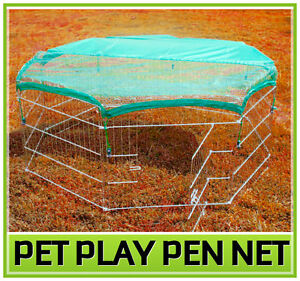 Pet-Dog-Cat-Exercise-Pen-Playpen-Fence-Yard-Kennel-Net-Cover-Adjustable