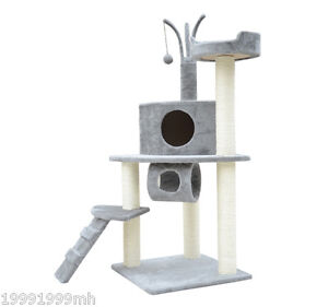 PawHut-47-Cat-Scratch-Tree-House-Furniture-Scratching-Post-Condo-Bed-New