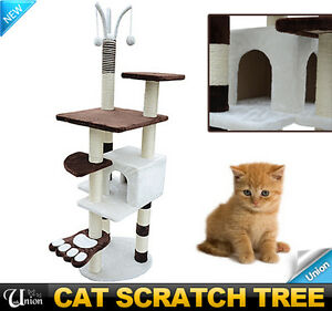 New-Pet-Furniture-Cat-Tree-Condo-House-Scratcher-Bed-Post-Condo-Tower-Toy