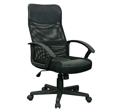 Mesh Executive High Back Office Computer Chair w/ Lower Lumbar Support - Black on Rummage