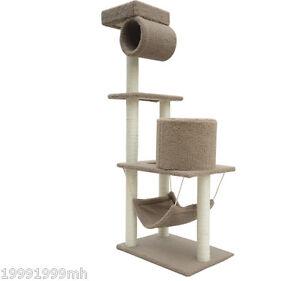 PawHut-55-Cat-Scratch-Tree-House-Furniture-Condo-Scratching-Post-Scratcher-Bed