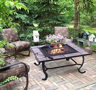 Outdoor Patio Backyard Metal Square Stove BBQ ...