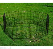 8 Panel Metal Pet Playpen Dog Puppy Cat Rabbit Exercise Fence Yard Kennel