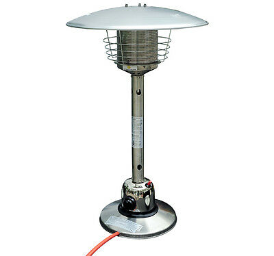 Table top Gas Patio Heater Stainless Steel Outdoor Heating Heat Fire New