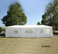 10' x 30' Party Tent w/ Walls - White/Green/Pink/Blue - TAX INCL