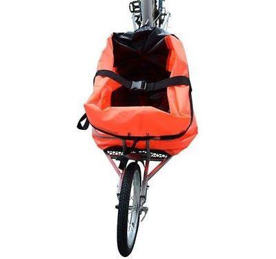 Aosom Steel Bicycle Bike Cargo luggage Trailer Single Wheel Cart Carrier Orange