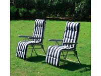 Mint condition garden loungers