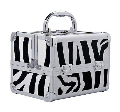 Professional Makeup Artist Cosmetics Case Jewelry Organizer Kit Box - Zebra on Rummage