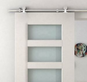 HomCom 6.6 FT Stainless Steel Sliding Door Hardware
