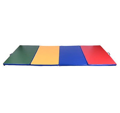 "4' x 10' x 2"" Folding Gymnastics Gym Tumbling Exercise Martial Arts 4 Color Mat on Rummage"
