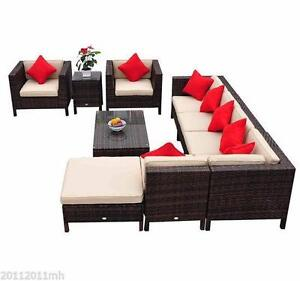 9-Piece Outdoor Rattan Sectional Patio Set / FACTORY DIRECT NO TAX BRAND NEW IN BOXES / OUTDOOR FURNITURE