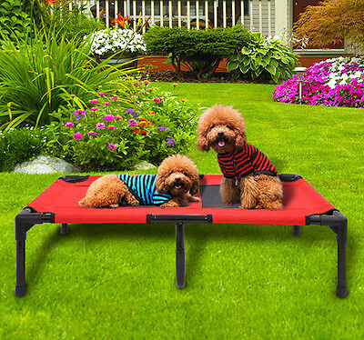 Pawhut Large Indoor/Outdoor Elevated Portable Pet Sleeping Camping Cot Dog Bed
