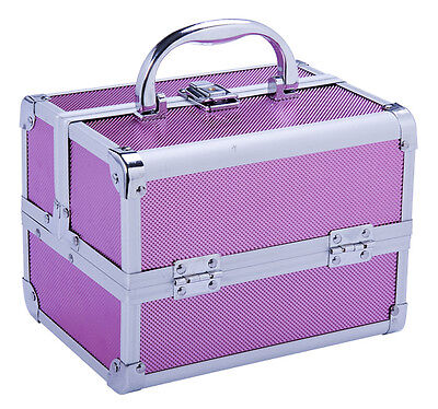 Professional Makeup Artist Cosmetics Case Jewelry Organizer Kit Box - Pink on Rummage
