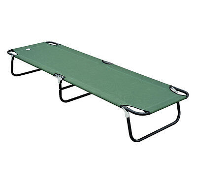 Outsunny Portable Folding Military-style Outdoor Camping Camp Cot Bed - Green on Rummage