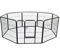"""32"""" 8 Panel Dog Pet Playpen Puppy Cat Fence  Cage Crate Kennel"""