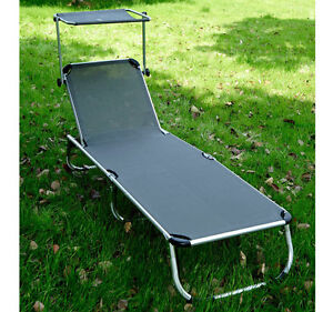 Aluminum chaise lounge ebay for Aluminum folding chaise lounge