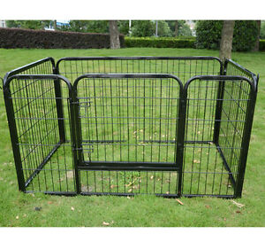 "28"" Dog Playpen 4 Panel Pet Puppy Exercise Pen Cat Fence New Bla"