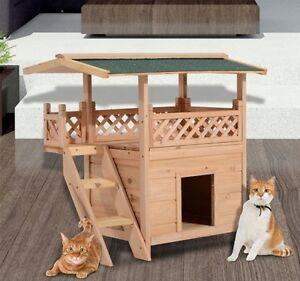 Maison Condo 2 étages pour chat ou petit chien avec Terrasse