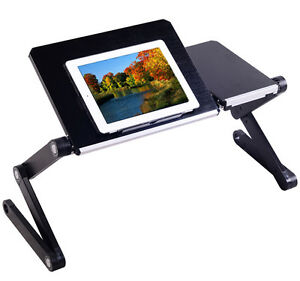 Computer Table iPad Stand Aluminum Laptop Notebook PC Table Desk Tray