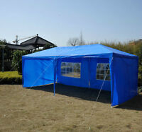 10x20ft Event Party Tent Waterproof Sunshelter Canopy w/ Sidewal