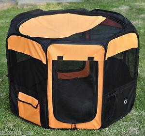 PawHut-36-034-Pet-Playpen-Soft-Dog-Cat-Exercise-Pen-Soft-Kennel-Crate-Portable-New