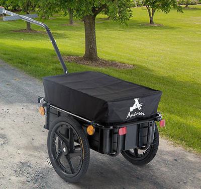 Bicycle Bike Cargo Trailer Steel Carrier Storage Cart Wheel Runner For Shopping
