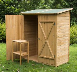 Armadio in legno da esterno 162 x 140 x 75 cm resistente - Divanetti da esterno in legno ...