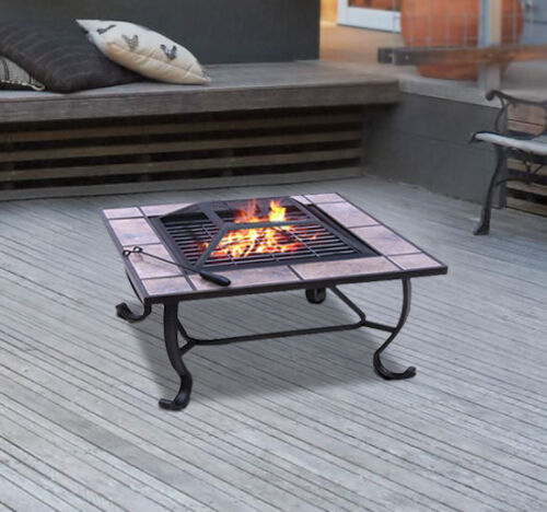 Outdoor Patio Square Fire Pit Metal Stove ...