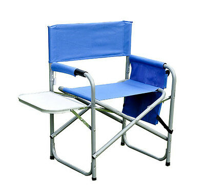 Folding Portable Camping Directors Camp Chair w Side