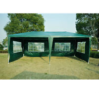 10x20ft Party Event Tent Canopy with 4 Sidewalls Waterproof Gree