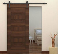 sliding barn door hardware kit / deep coffee indoor barn doors