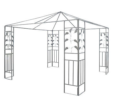 Outsunny 10' x 10' Leaf Design Steel Gazebo Frame - Outdoor Patio Canopy Cover on Rummage