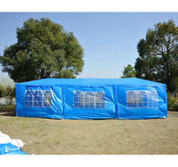 10 x 30 ft Party Tent Outdoor Wedding Event Sun Shelter with 8 S