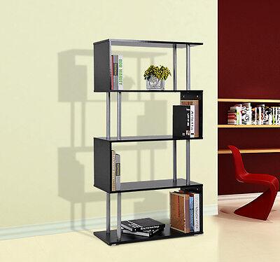 Bookshelf 5 Shelf Wood Display Unit Storage Furniture Book Shelving Tier Stand
