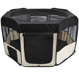 "42"" Pet Playpen Exercise Cat Dog Pen Puppy Kennel Foldable w/"