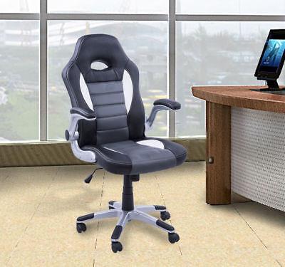 HOMCOM Racing Office Chair PU Leather Bucket Computer Gaming Swivel Adjustable
