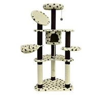 "POSH POLKA DOTS! 60"" CAT TREE HST & FREE SHIP INCL CANADA"