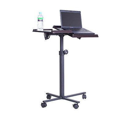 portable tiltable laptop desk cart tilting notebook computer stand w wheels ebay. Black Bedroom Furniture Sets. Home Design Ideas