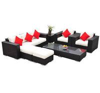 Ensemble de meuble 7 pieces en osier pour Patio Terrasse